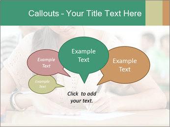 Student girl sitting for exam PowerPoint Template - Slide 73