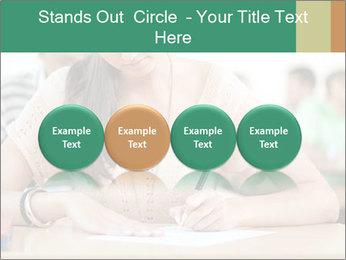 Student girl sitting for exam PowerPoint Template - Slide 76