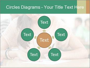 Student girl sitting for exam PowerPoint Template - Slide 78