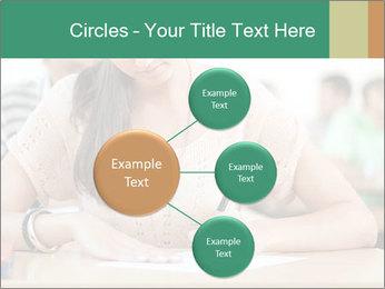 Student girl sitting for exam PowerPoint Template - Slide 79