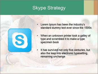 Student girl sitting for exam PowerPoint Template - Slide 8