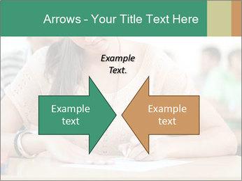 Student girl sitting for exam PowerPoint Template - Slide 90