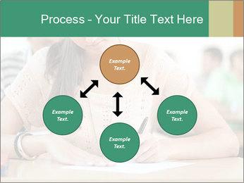 Student girl sitting for exam PowerPoint Template - Slide 91