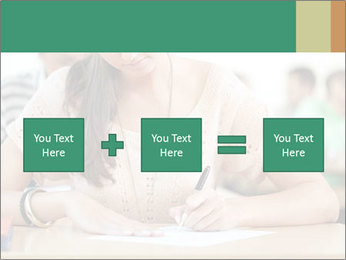 Student girl sitting for exam PowerPoint Template - Slide 95