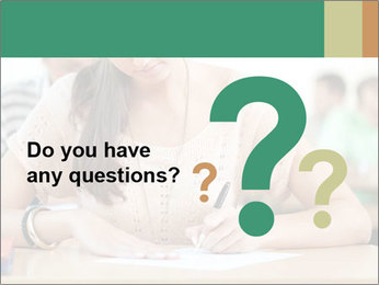 Student girl sitting for exam PowerPoint Template - Slide 96