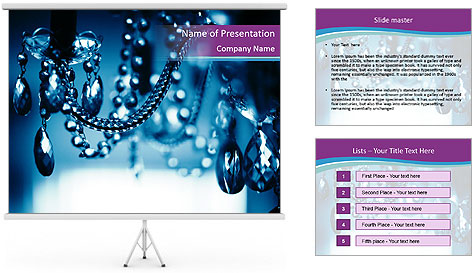 Chrystal chandelier PowerPoint Template