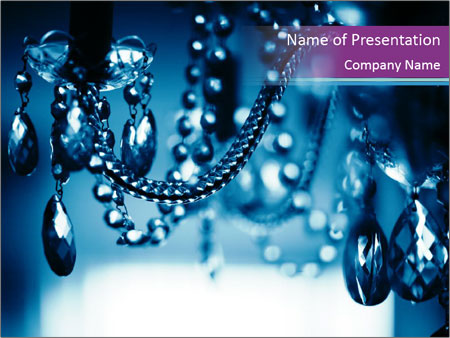 Chrystal chandelier PowerPoint Templates