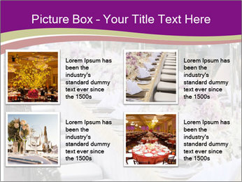 Festive table PowerPoint Template - Slide 14