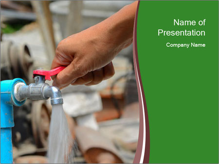 The water pressure PowerPoint Templates