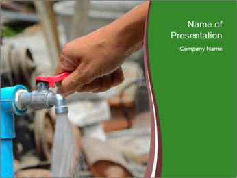 The water pressure PowerPoint Template