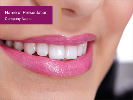 Beautiful young smiling woman PowerPoint Templates