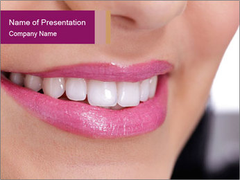 Beautiful young smiling woman PowerPoint Template