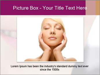Beautiful young smiling woman PowerPoint Template - Slide 15