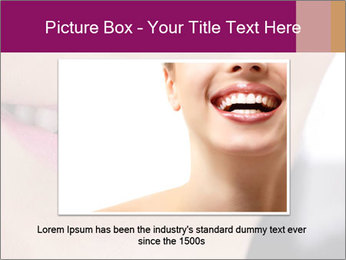 Beautiful young smiling woman PowerPoint Template - Slide 16