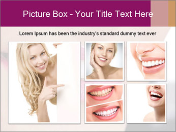 Beautiful young smiling woman PowerPoint Template - Slide 19
