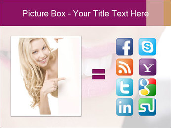 Beautiful young smiling woman PowerPoint Template - Slide 21