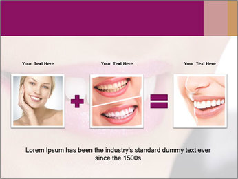 Beautiful young smiling woman PowerPoint Template - Slide 22