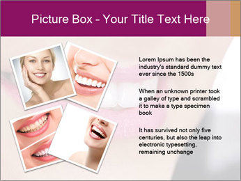 Beautiful young smiling woman PowerPoint Template - Slide 23