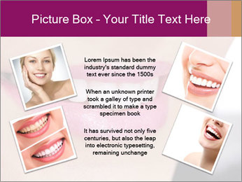 Beautiful young smiling woman PowerPoint Template - Slide 24