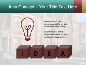 Victorian row of houses PowerPoint Template - Slide 80