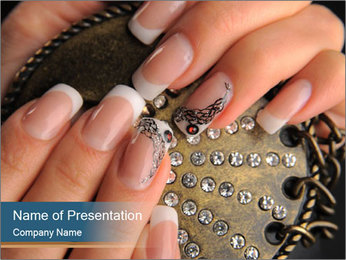 Manicures PowerPoint Template - Slide 1