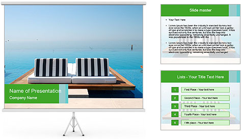 Infinity swimming pool PowerPoint Template