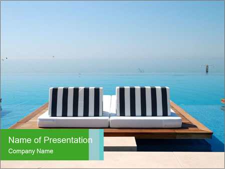 Infinity swimming pool PowerPoint Templates