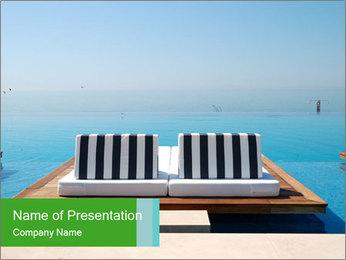 Infinity swimming pool PowerPoint Templates - Slide 1