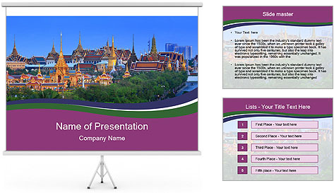 Thailand panorama PowerPoint Template