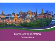 Thailand panorama PowerPoint Templates