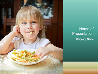 Cute little girl PowerPoint Template
