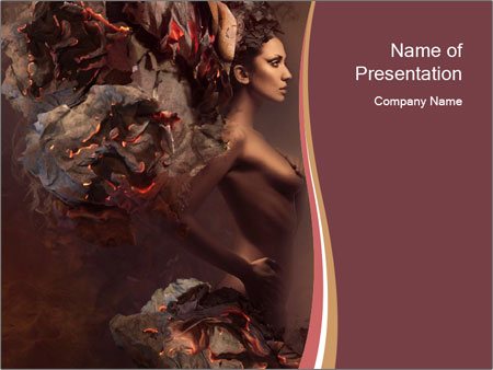 Sexy pretty woman PowerPoint Template