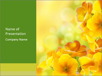 Yellow flowers PowerPoint Template