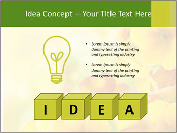 Yellow flowers PowerPoint Template - Slide 80