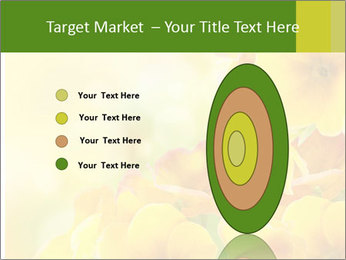 Yellow flowers PowerPoint Template - Slide 84