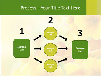Yellow flowers PowerPoint Template - Slide 92