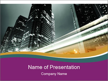 Traffic in Hong Kong PowerPoint Template