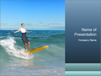 Young business person surfing PowerPoint Templates - Slide 1