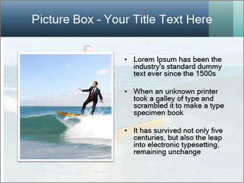 Young business person surfing PowerPoint Templates - Slide 13