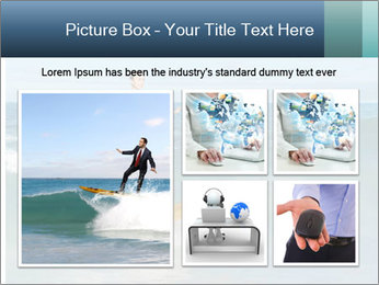 Young business person surfing PowerPoint Templates - Slide 19