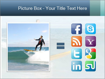 Young business person surfing PowerPoint Templates - Slide 21