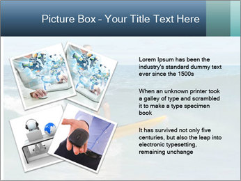 Young business person surfing PowerPoint Templates - Slide 23