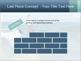 Young business person surfing PowerPoint Templates - Slide 46