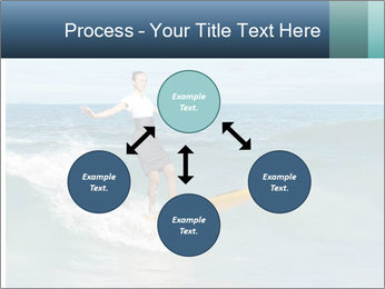Young business person surfing PowerPoint Templates - Slide 91