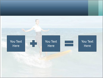 Young business person surfing PowerPoint Templates - Slide 95