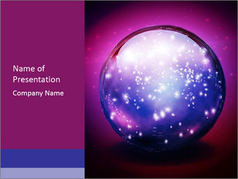 Crystal Ball PowerPoint Template - Slide 1