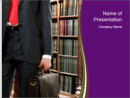 A lawyer PowerPoint Template