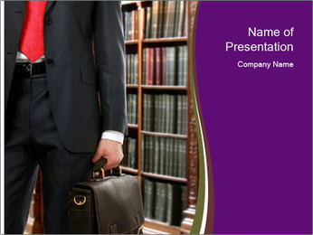 A lawyer PowerPoint Template - Slide 1