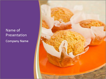Homemade Muffins PowerPoint Templates - Slide 1