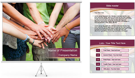 Team Of Students PowerPoint Template